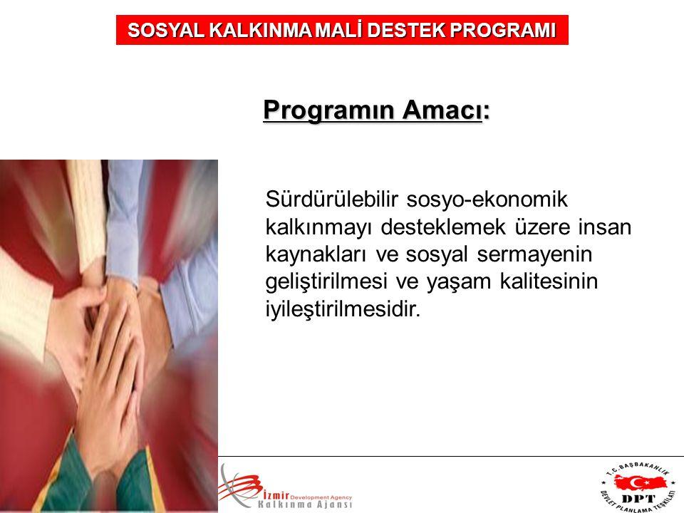 Programın Amacı: Sürdürülebilir sosyo-ekonomik kalkınmayı desteklemek üzere insan kaynakları ve sosyal sermayenin geliştirilmesi ve yaşam kalitesinin