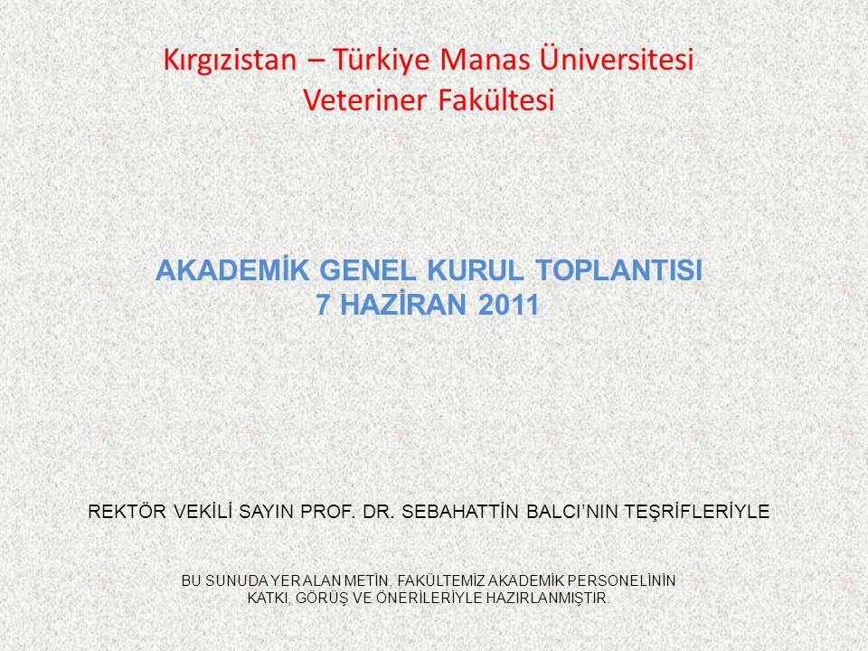 2010-2011 EĞİTİM-ÖĞRETİM YILININ DEĞERLENDİRİLMESİ 1.