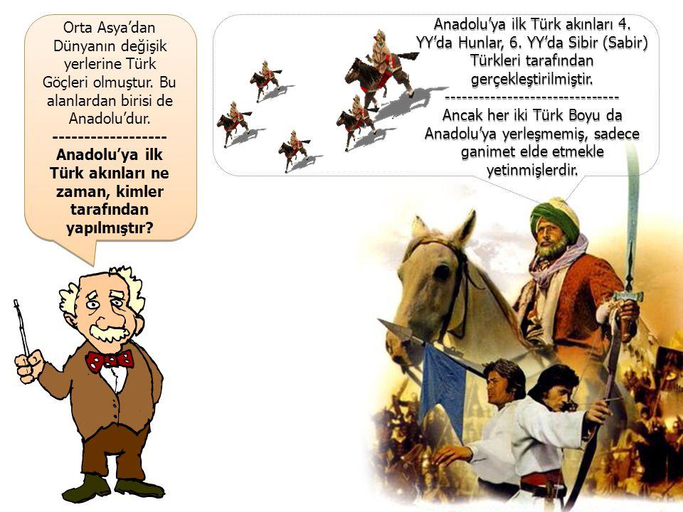 Orta Asya'dan Dünyanın değişik yerlerine Türk Göçleri olmuştur.