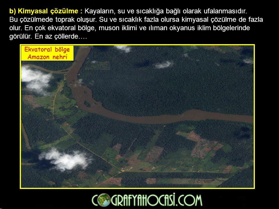 8- Çöl toprakları : Çöl ikliminin toprağıdır.Az yıkandığından kireç ve tuz yönünden zengindir.