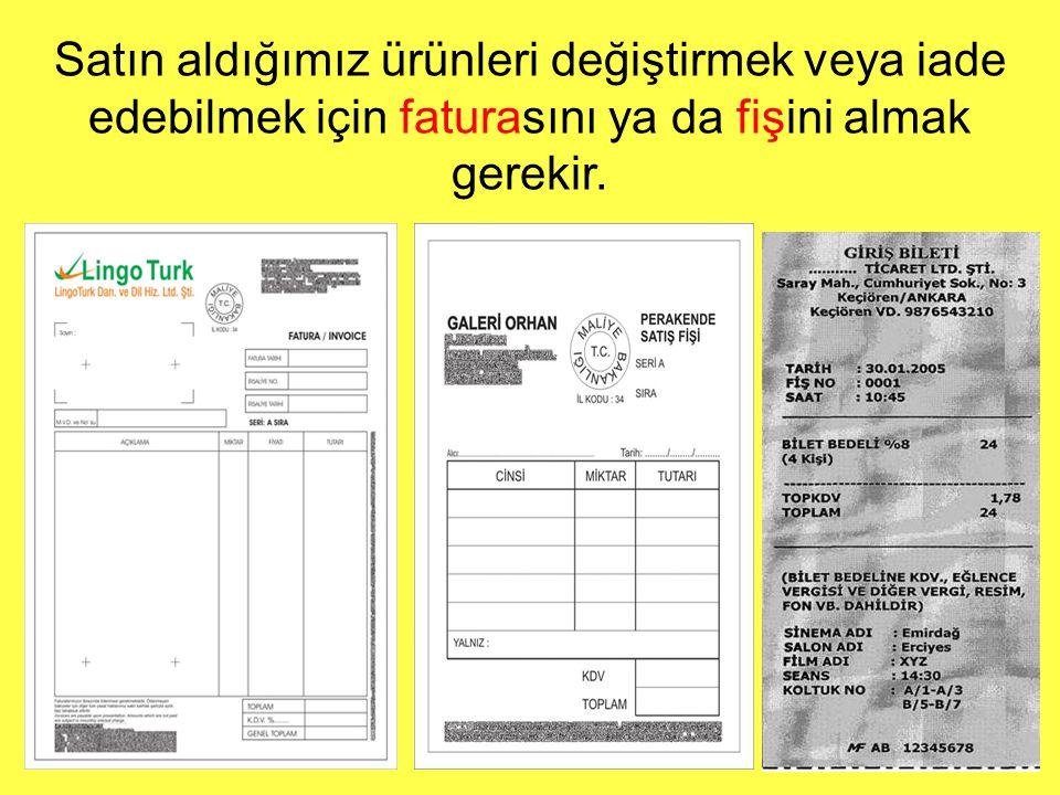 Türk Standartları Enstitüsü adlı kuruluş her ürünün hangi özelliklere sahip olacağını belirler.