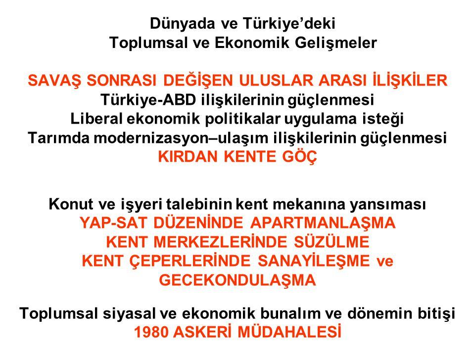 Dünyada ve Türkiye'deki Toplumsal ve Ekonomik Gelişmeler SAVAŞ SONRASI DEĞİŞEN ULUSLAR ARASI İLİŞKİLER Türkiye-ABD ilişkilerinin güçlenmesi Liberal ek
