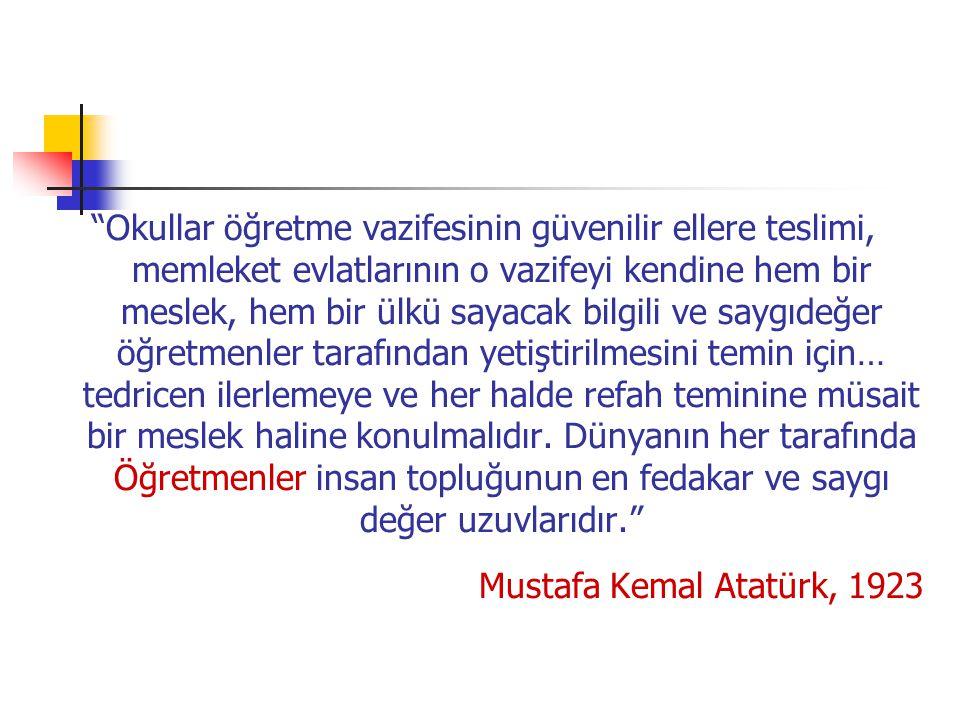 Türk Eğitim Tarihi'nde öğretmen yetiştirme alanında gösterilen en yoğun ve gayretli çalışma dönemi Cumhuriyet dönemidir.