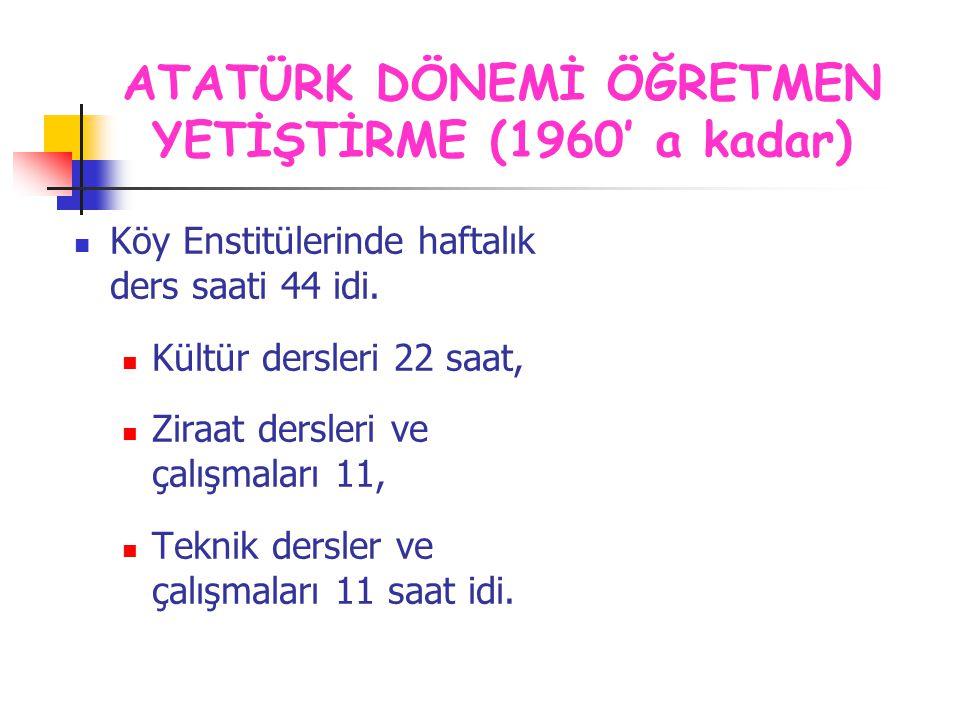 Şubat 1954 tarih ve 6234 sayılı kanun ile Köy Enstitüleri, İlköğretmen Okulları ile birleştirilmiştir.