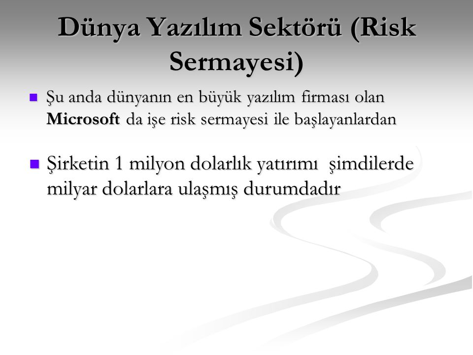 Dünya'dan Rakamlar Dünyada 2003 yılında ERP pazarı 9.44 milyar dolar olarak gerçekleşti, Türkiye'de bu rakam 28 milyon dolar seviyesinde.