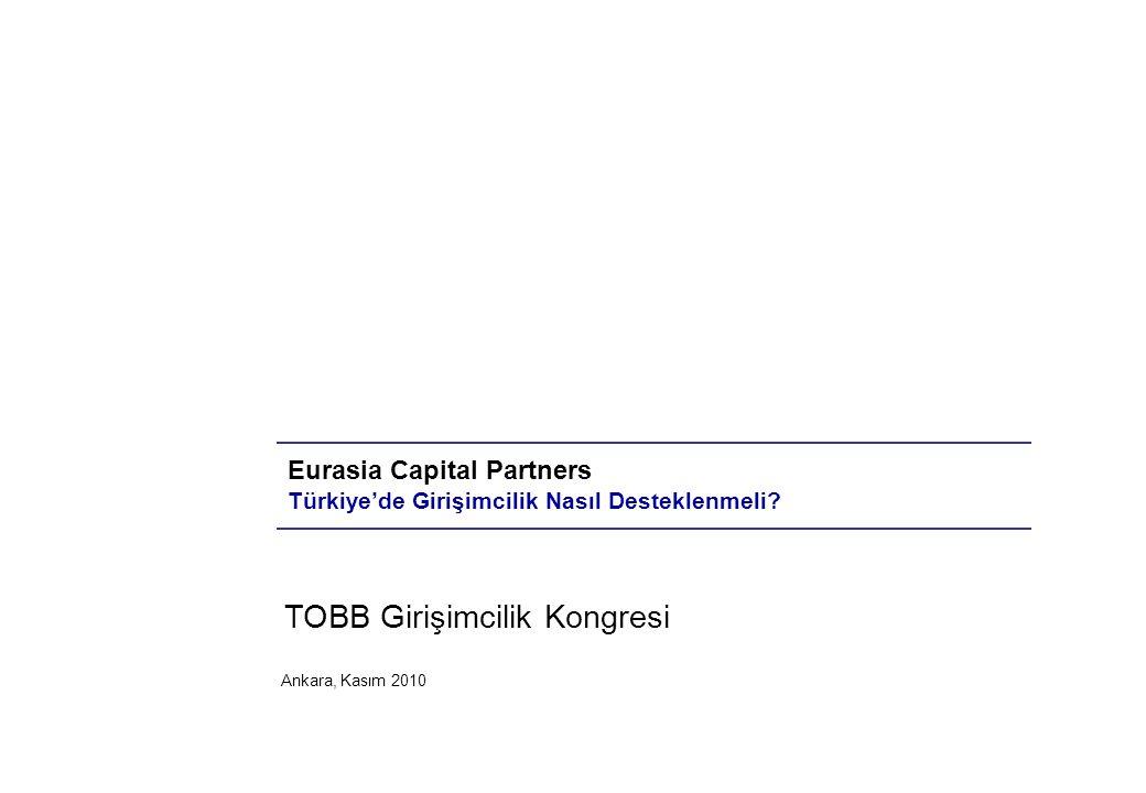 Ankara, Kasım 2010 Eurasia Capital Partners Türkiye'de Girişimcilik Nasıl Desteklenmeli.