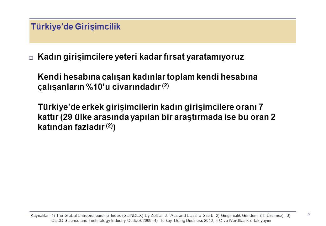 Türkiye'de Girişimcilik 6 □ ARGE harcamalarımız daha fazla olabilir...