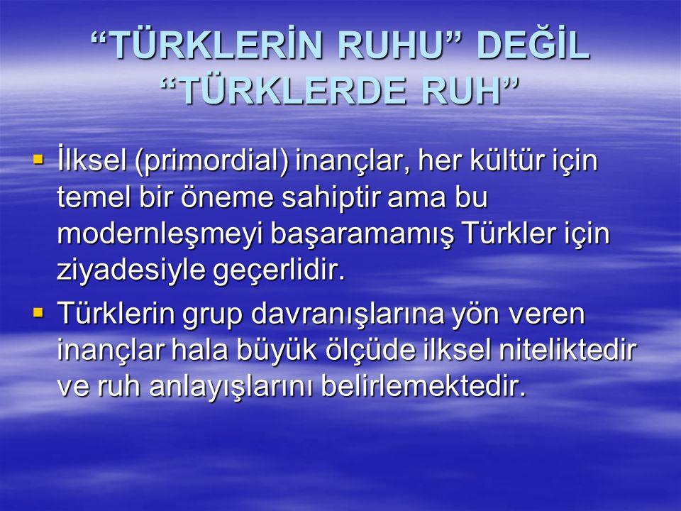 TÜRKLERDE RENKLERLE İLGİLİ İNANÇLAR  Yönler ve renkler  Türk'ün gözü aldadır; Kızılbaş Türkmen, kanlı gözlü kağan  Ak-kara  Mavi-yeşil  Açık sarı-koyu sarı