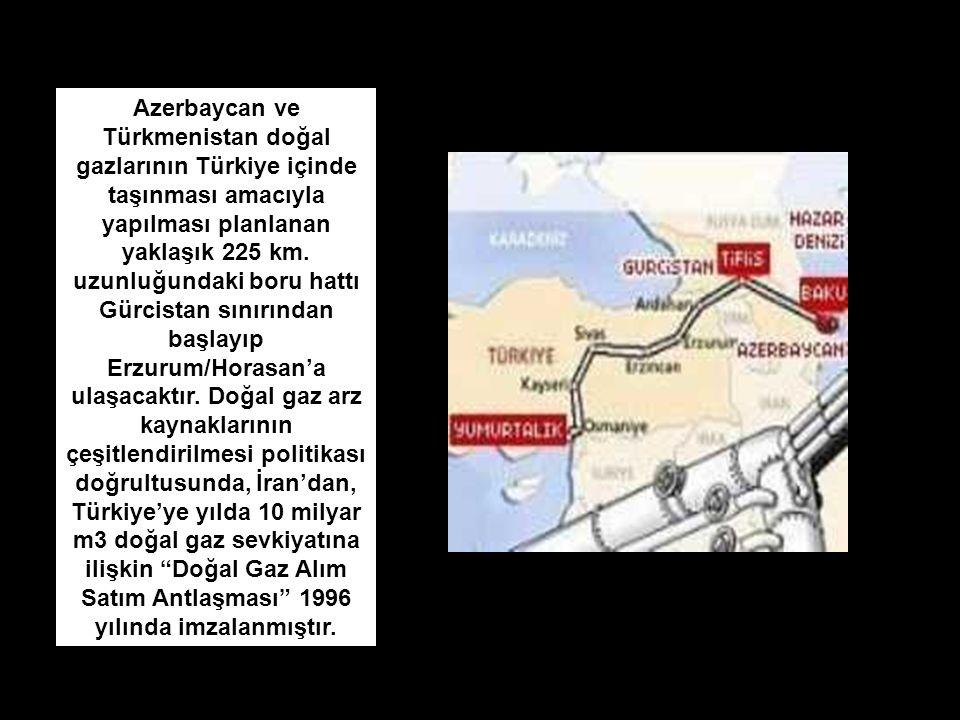 Azerbaycan ve Türkmenistan doğal gazlarının Türkiye içinde taşınması amacıyla yapılması planlanan yaklaşık 225 km. uzunluğundaki boru hattı Gürcistan