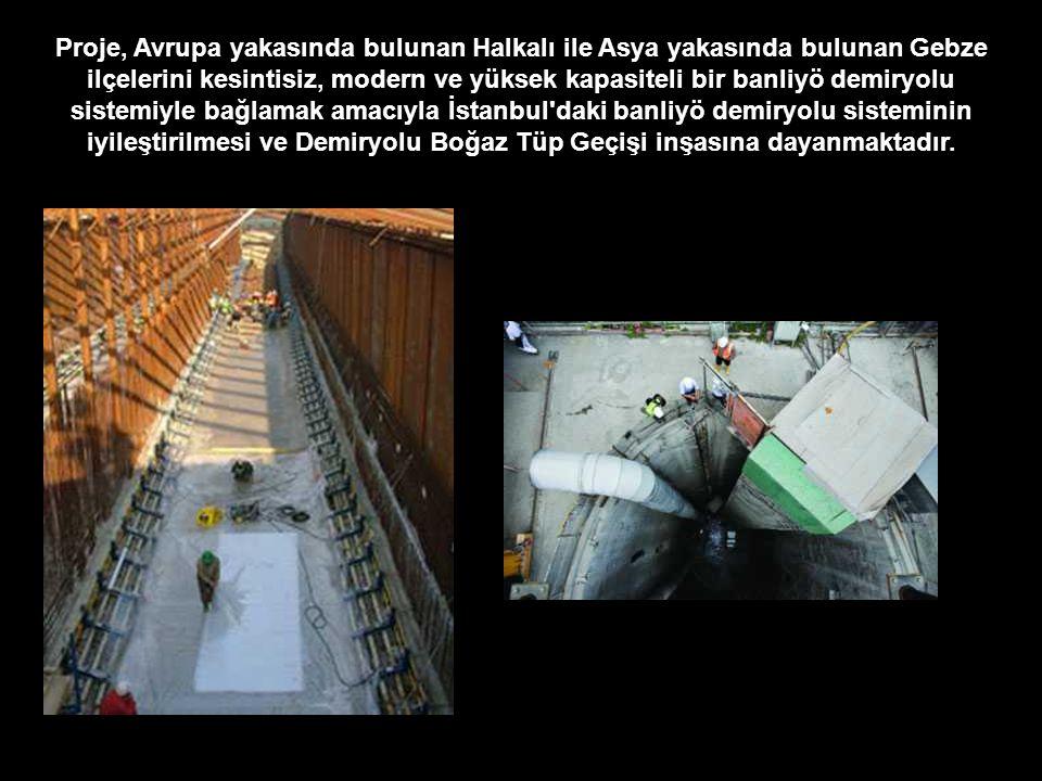 Proje, Avrupa yakasında bulunan Halkalı ile Asya yakasında bulunan Gebze ilçelerini kesintisiz, modern ve yüksek kapasiteli bir banliyö demiryolu sist