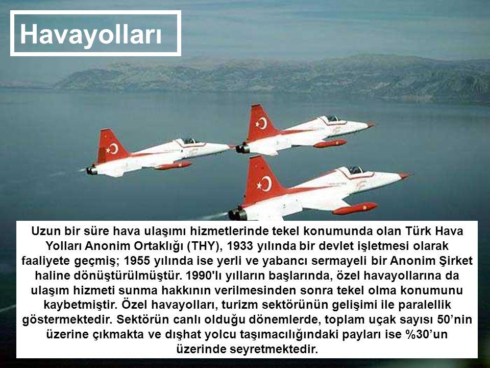 Uzun bir süre hava ulaşımı hizmetlerinde tekel konumunda olan Türk Hava Yolları Anonim Ortaklığı (THY), 1933 yılında bir devlet işletmesi olarak faali