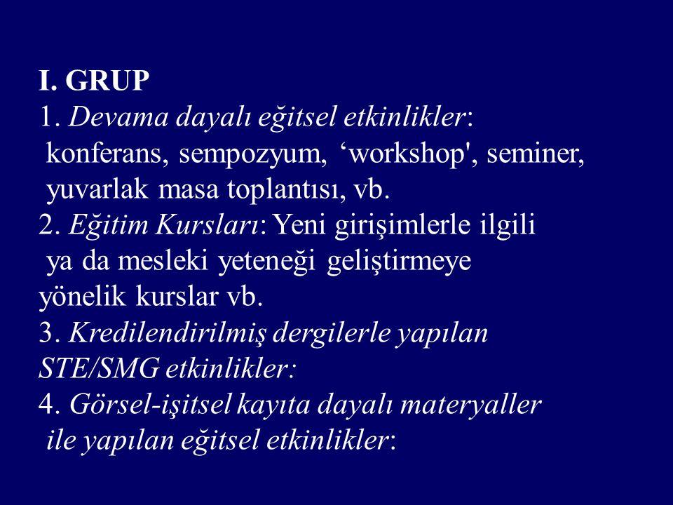 I. GRUP 1.