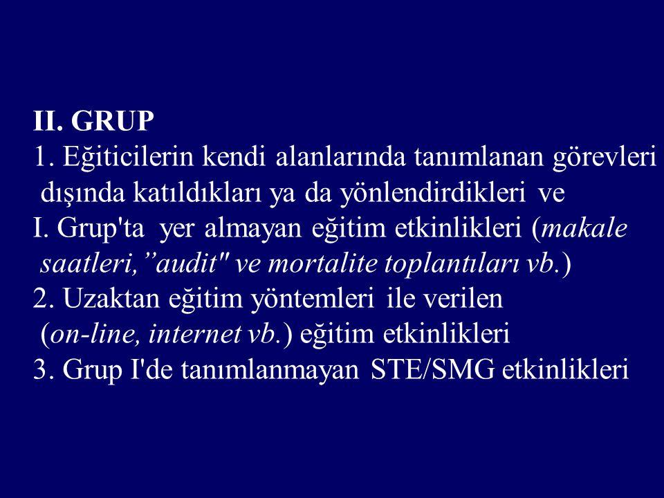 II. GRUP 1.