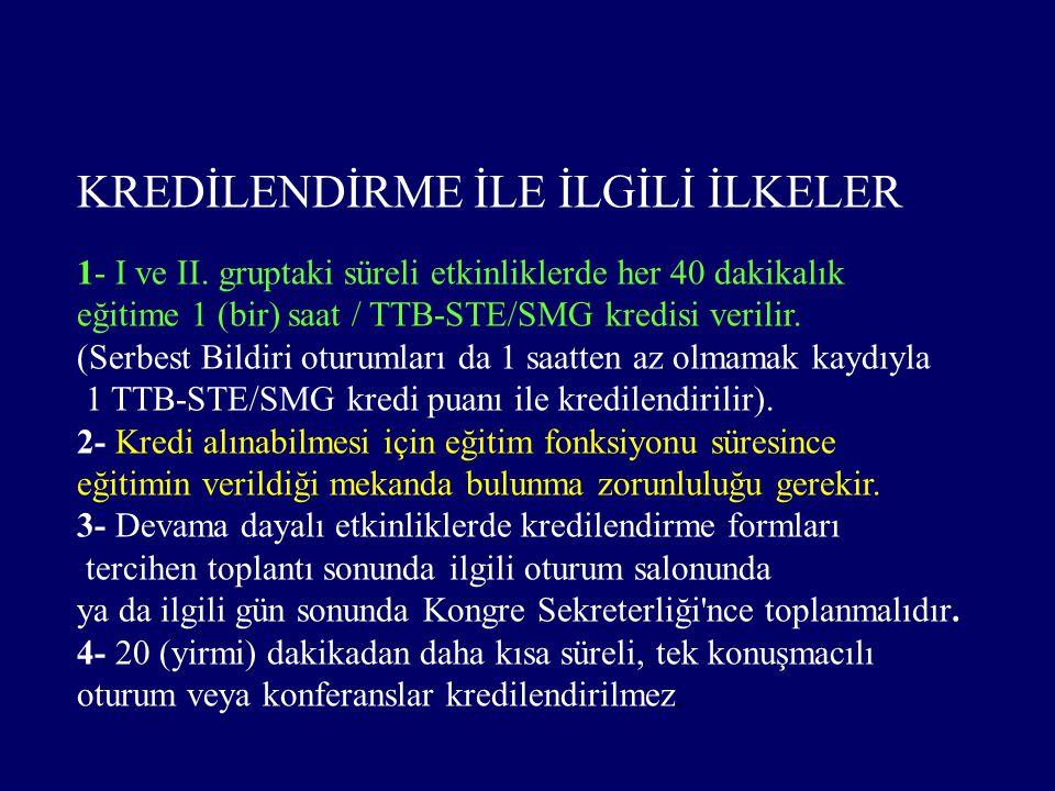 KREDİLENDİRME İLE İLGİLİ İLKELER 1- I ve II.