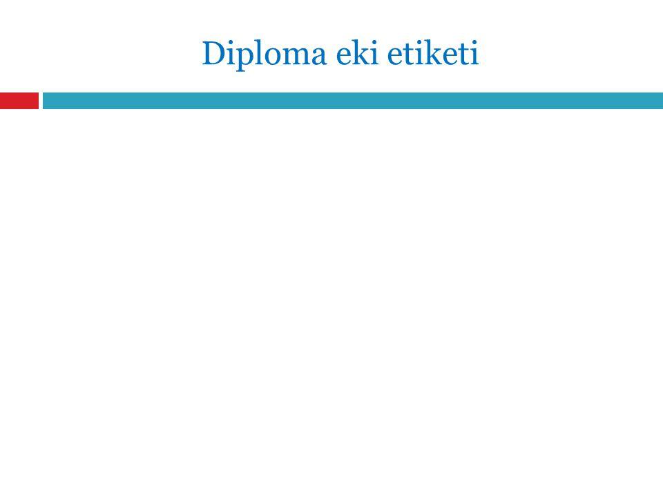 Diploma eki etiketi
