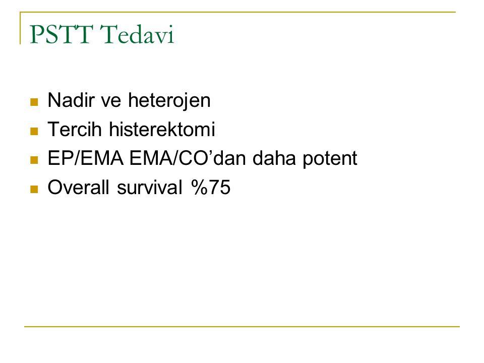 PSTT Tedavi Nadir ve heterojen Tercih histerektomi EP/EMA EMA/CO'dan daha potent Overall survival %75