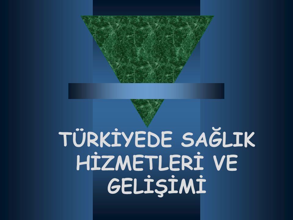  Yerel yönetimler hastane açmaya özendirilmiş, bu idarelere örnek olmak üzere Ankara, İstanbul, Sivas, Erzurum ve Diyarbakır gibi büyük illerde Bakanlığa bağlı numune hastaneleri açılmıştır.