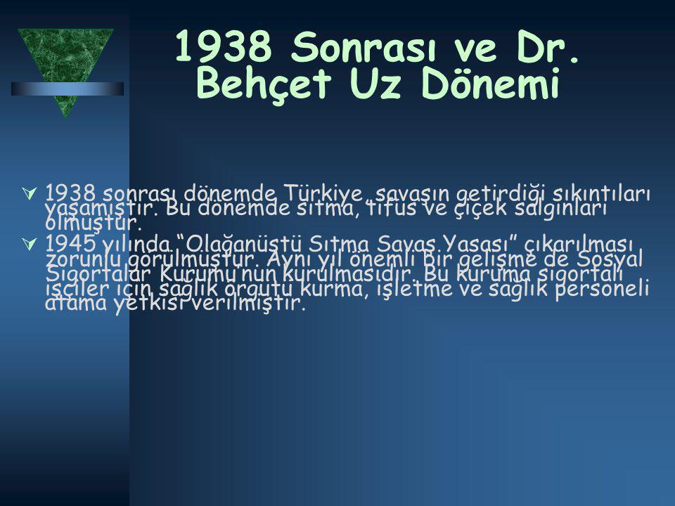 1938 Sonrası ve Dr.