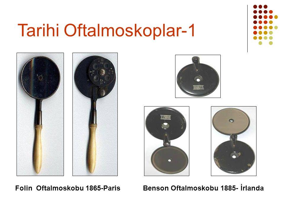 Folin Oftalmoskobu 1865-Paris Benson Oftalmoskobu 1885- İrlanda Tarihi Oftalmoskoplar-1