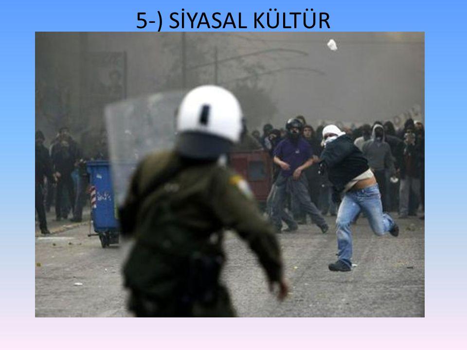 5-) SİYASAL KÜLTÜR
