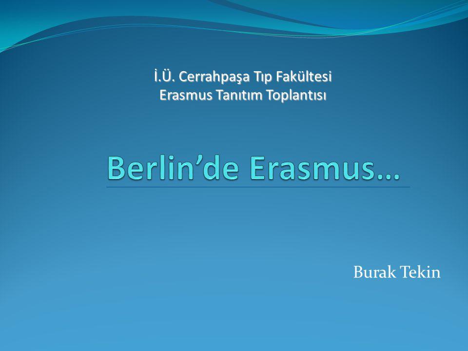 Burak Tekin İ.Ü. Cerrahpaşa Tıp Fakültesi Erasmus Tanıtım Toplantısı