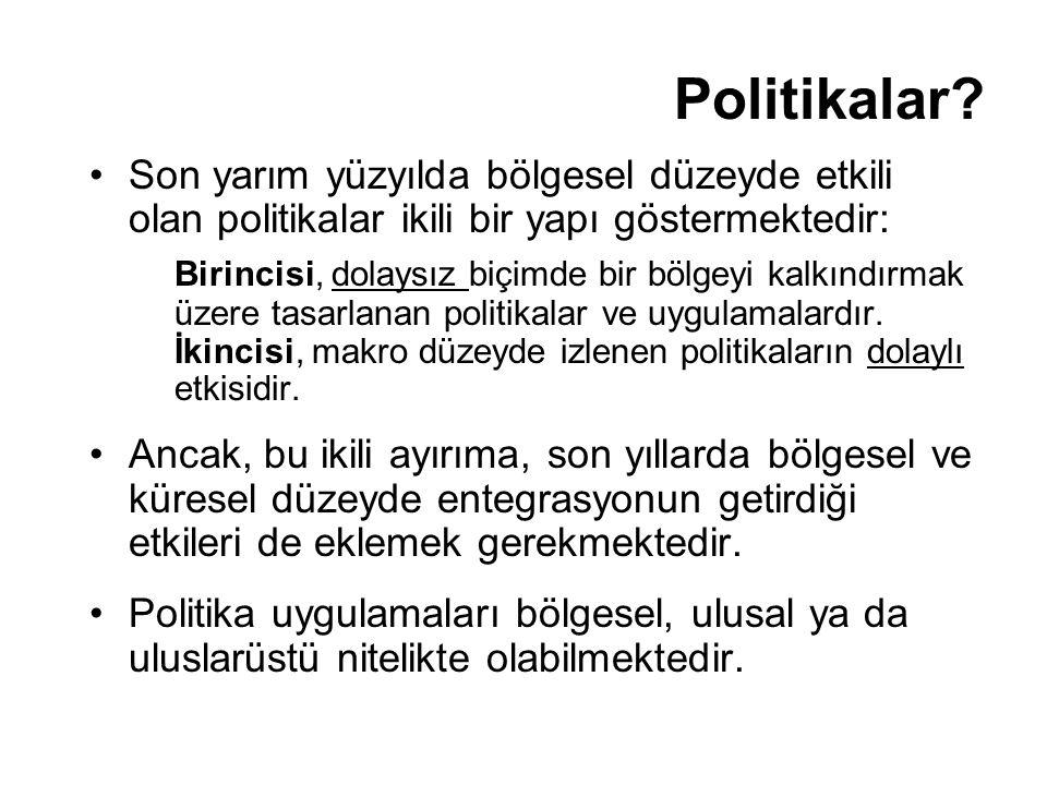 Sonuç Bölgesel Politika Yaklaşımları Türkiye'de Bölgesel Politikalar Türkiye'de bölgesel farklılıklar (göstergeler) Politikalar ve Değerlendirme Yaşanacak kentler ve bölgeler yaratmanın önemi Soares (2007) → eğitim, suya erişim ve sağlıktaki iyileşmelerin yaşam beklentisinde gelirle ilişkili olmayan önemli faktörler olduğunu belirtmektedir İnsana yapılacak yatırımların önemi