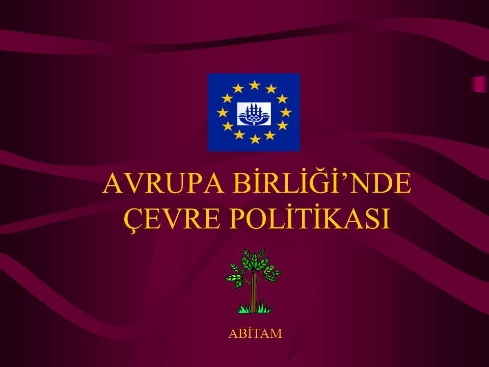 AB Çevre Politikasının Oluşumu Avrupa Birliği'nin Çevre Politikası, Avrupa Topluluğu Antlaşması'nın birçok maddesinde yer almaktadır.