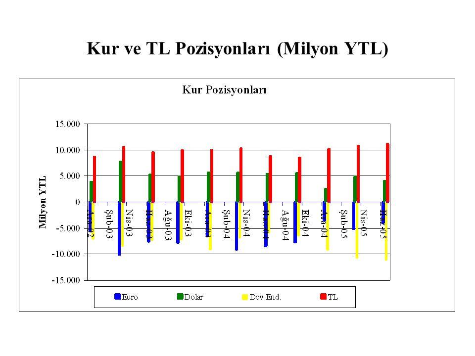 Kur ve TL Pozisyonları (Milyon YTL)