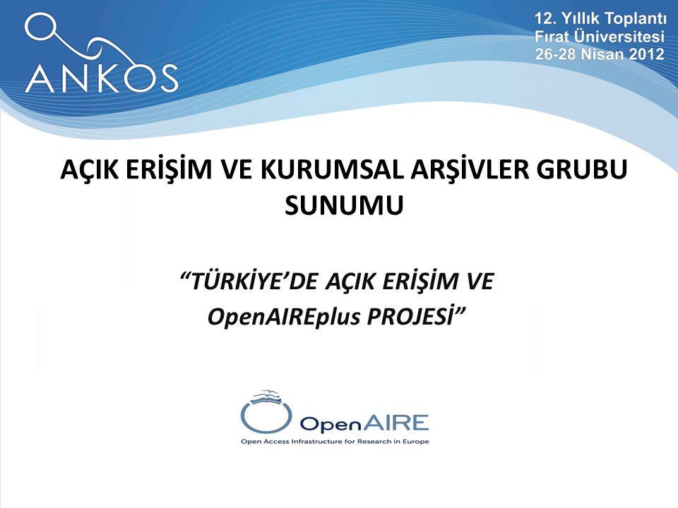 Açık Bilimsel Bilgi Dünyası'na Yol Açma Hazırlıkları: OpenAIREplus