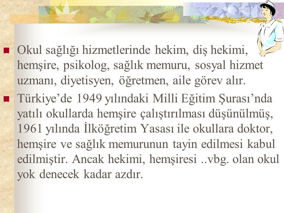 Türkiye'de okul sağlığı hizmetlerinde ailelere de yer verilmektedir.