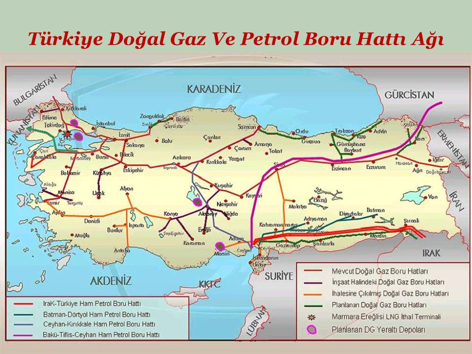 Türkiye Doğal Gaz Ve Petrol Boru Hattı Ağı