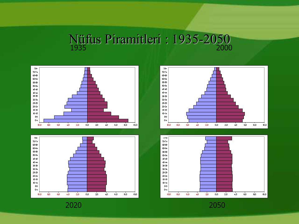 Nüfus Piramitleri : 1935-2050 19352000 20202050
