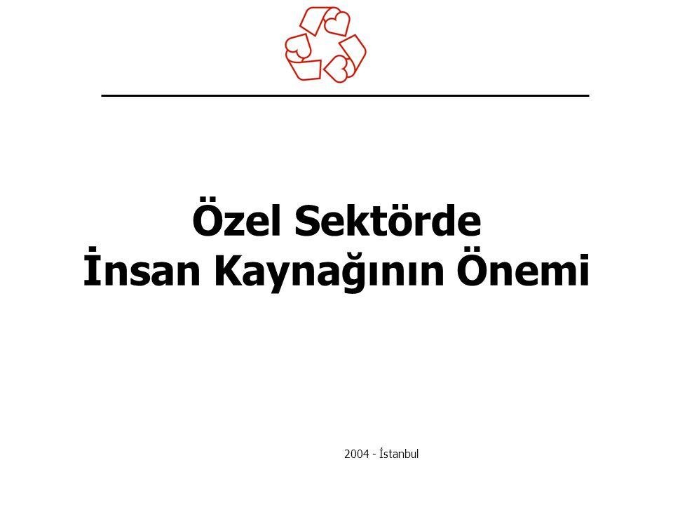 Özel Sektörde İnsan Kaynağının Önemi 2004 - İstanbul