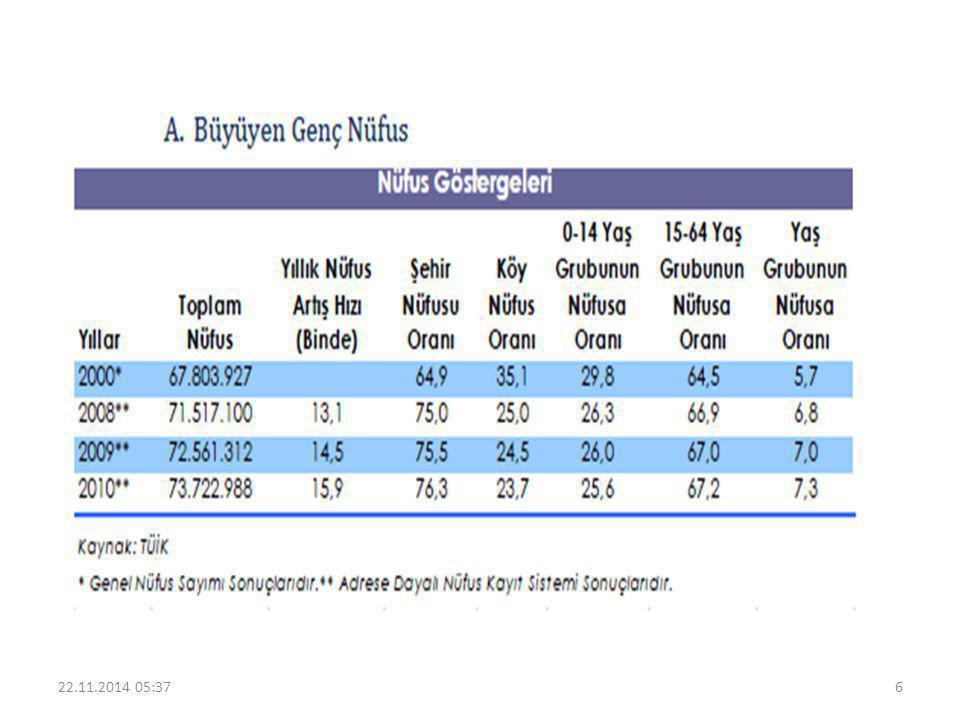 15-64 yaş grubunda bulunan çalışma çağındaki nüfus, toplam nüfusun % 67,2'sini oluşturmaktadır.