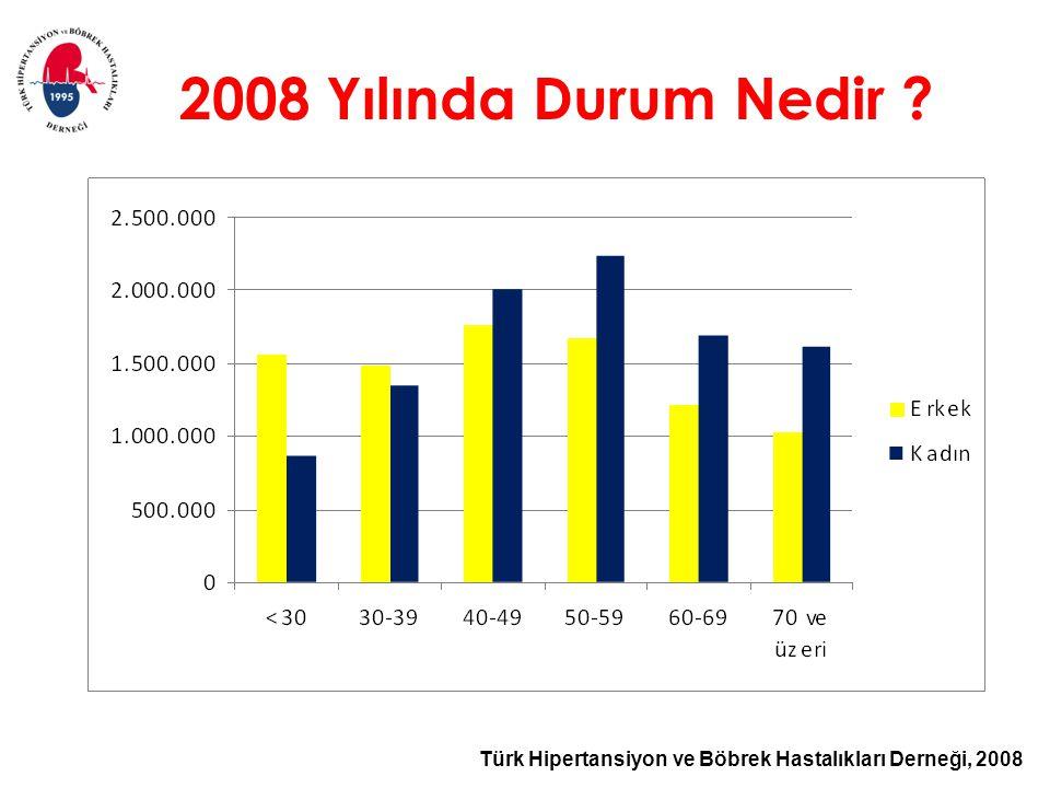 Türk Hipertansiyon ve Böbrek Hastalıkları Derneği, 2008 2008 Yılında Durum Nedir ?