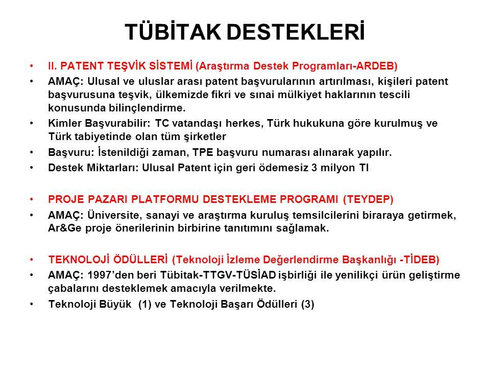TÜBİTAK DESTEKLERİ II.