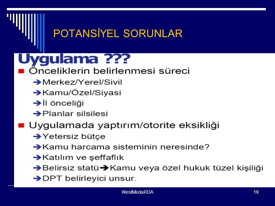 WestMedaRDA19 POTANSİYEL SORUNLAR