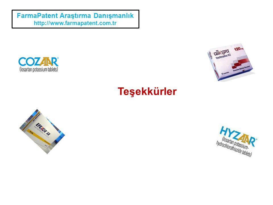 FarmaPatent Araştırma Danışmanlık http://www.farmapatent.com.tr Teşekkürler
