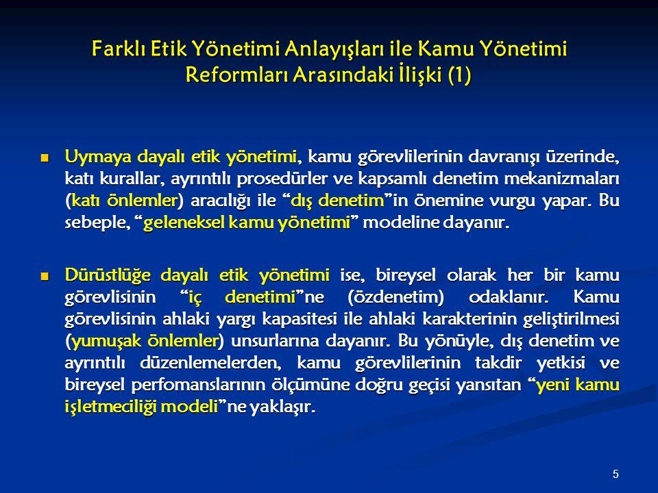 36 Türkiye'de Etik Kamu Yönetiminin Kurulması ve Yolsuzlukla Mücadele Yolları ve Yetkili Kurumlar (2) Türkiye'de Etik Kamu Yönetiminin Kurulması ve Yolsuzlukla Mücadele Yolları ve Yetkili Kurumlar (2) Yargısal Denetim Yargısal Denetim Özel bir mahkeme mevcut değil Özel bir mahkeme mevcut değil Yolsuzlukla ilgili hukuki kovuşturma Yargıtay gibi anayasal yüksek mahkemeler ile adli, idari ve askeri mahkemelerce yürütülür Yolsuzlukla ilgili hukuki kovuşturma Yargıtay gibi anayasal yüksek mahkemeler ile adli, idari ve askeri mahkemelerce yürütülür Kamuoyu Denetimi Kamuoyu Denetimi Medya Medya Sivil Toplum Kuruluşları Sivil Toplum Kuruluşları Ombudsman Denetimi Ombudsman Denetimi 2006 tarih ve 5548 sayılı Kamu Denetçiliği Kurumu Kanunu (Anayasa Mahkemesi tarafından yürürlüğü durduruldu) 2006 tarih ve 5548 sayılı Kamu Denetçiliği Kurumu Kanunu (Anayasa Mahkemesi tarafından yürürlüğü durduruldu) Uluslararası Denetim Uluslararası Denetim AİHM AİHM