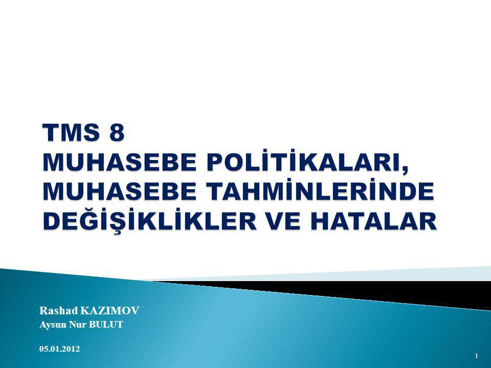 Rashad KAZIMOV Aysun Nur BULUT 05.01.2012 1