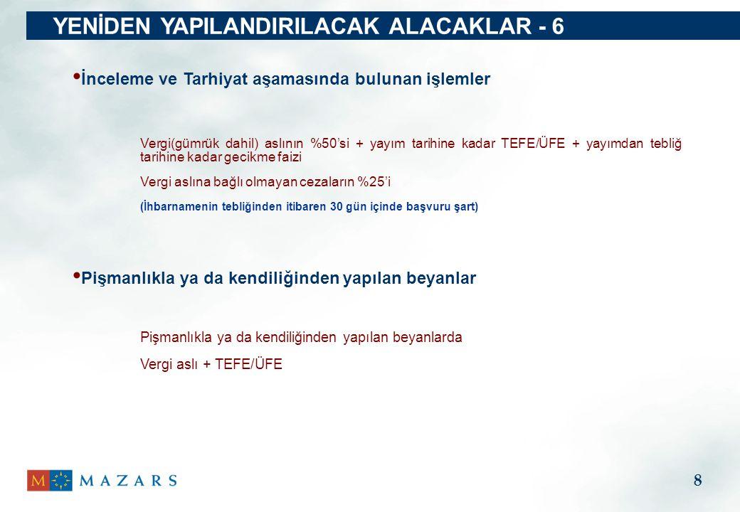 Emtia, Kasa ve Ortaklardan Alacaklar Nasıl : Gayrisafi kar oranına göre fatura ile çıkış Vergi oranı: İlgili her türlü vergisel yükümlülükler Başvuru : Yayımdan itibaren 3 ay içinde fatura kesilmeli Kayıtlarda yer aldığı halde işletmede bulunmayan Nasıl : 30.06.2010 tarihli net bakiye Vergi oranı: %5 Başvuru : Yayımdan itibaren 3 ay içinde yapılır ve hesaplanan vergi ödenir Kasa ve ortaklardan alacaklar Emtia 19