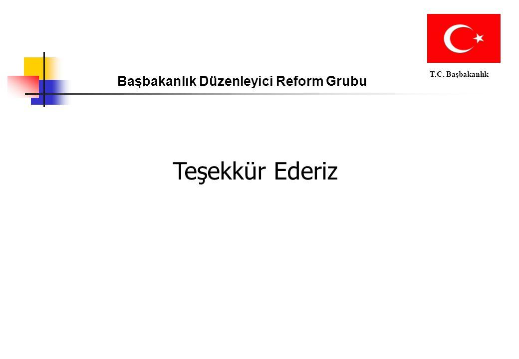 Başbakanlık Düzenleyici Reform Grubu T.C. Başbakanlık Teşekkür Ederiz