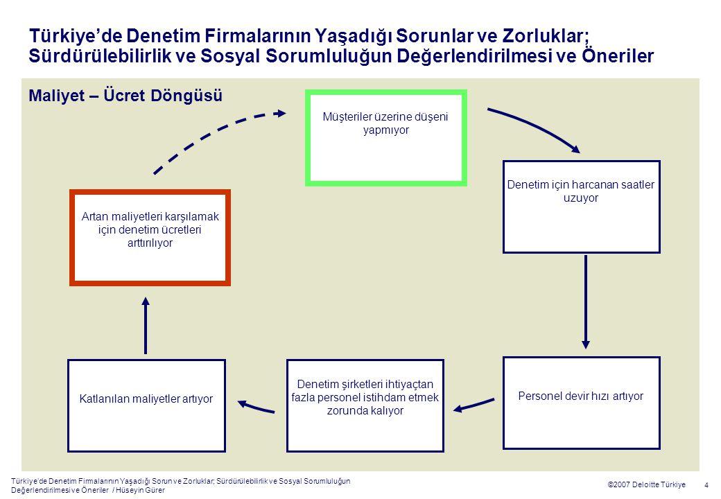Türkiye'de Denetim Firmalarının Yaşadığı Sorun ve Zorluklar; Sürdürülebilirlik ve Sosyal Sorumluluğun Değerlendirilmesi ve Öneriler / Hüseyin Gürer 4