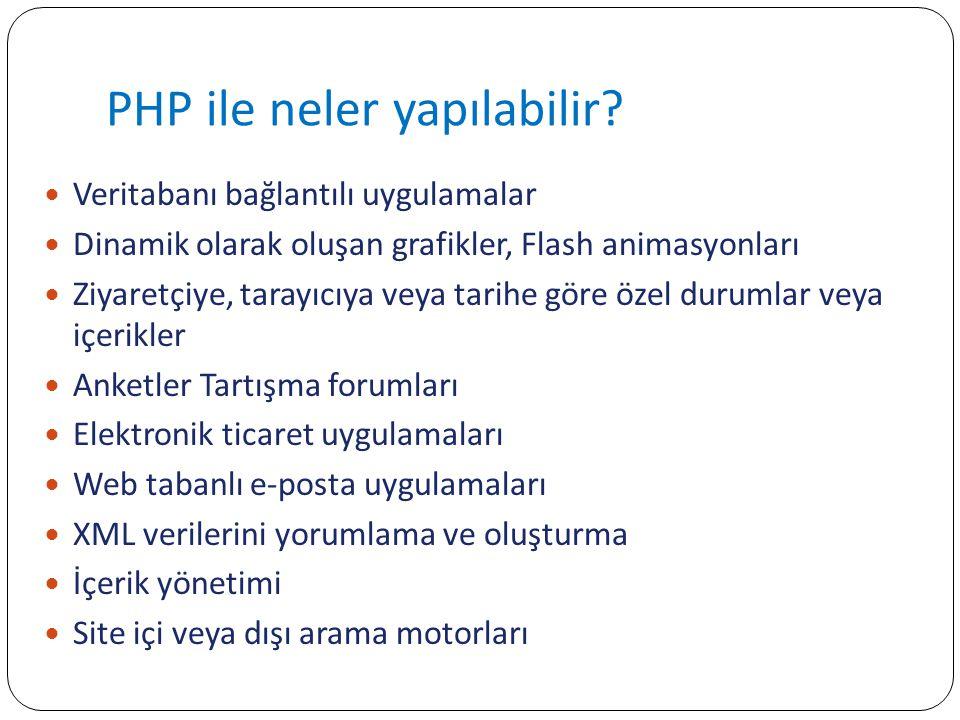 Neden HTML değil PHP.