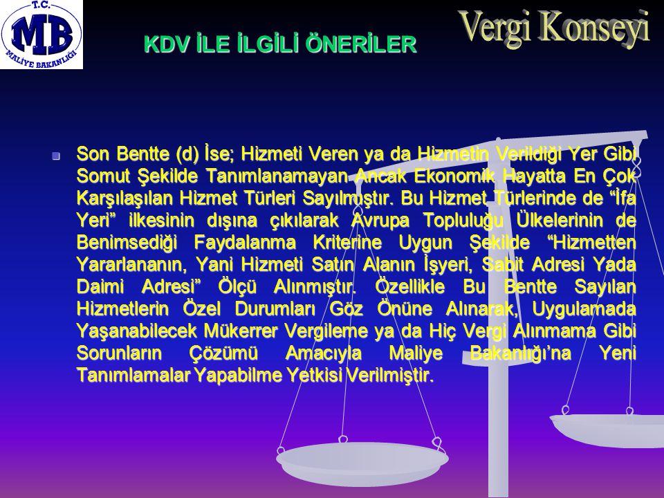 ÖZEL TÜKETİM VERGİSİ İLE İLGİLİ ÖNERİLER III.