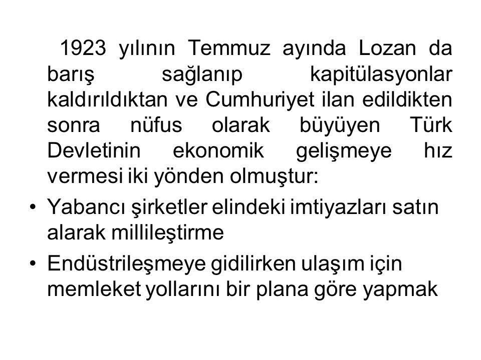 1923 yılının Temmuz ayında Lozan da barış sağlanıp kapitülasyonlar kaldırıldıktan ve Cumhuriyet ilan edildikten sonra nüfus olarak büyüyen Türk Devlet