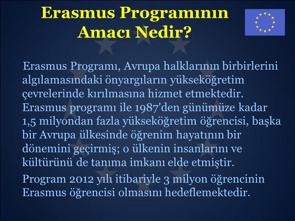 Erasmus Programının Amacı Nedir? Erasmus Programı, Avrupa halklarının birbirlerini algılamasındaki önyargıların yükseköğretim çevrelerinde kırılmasına
