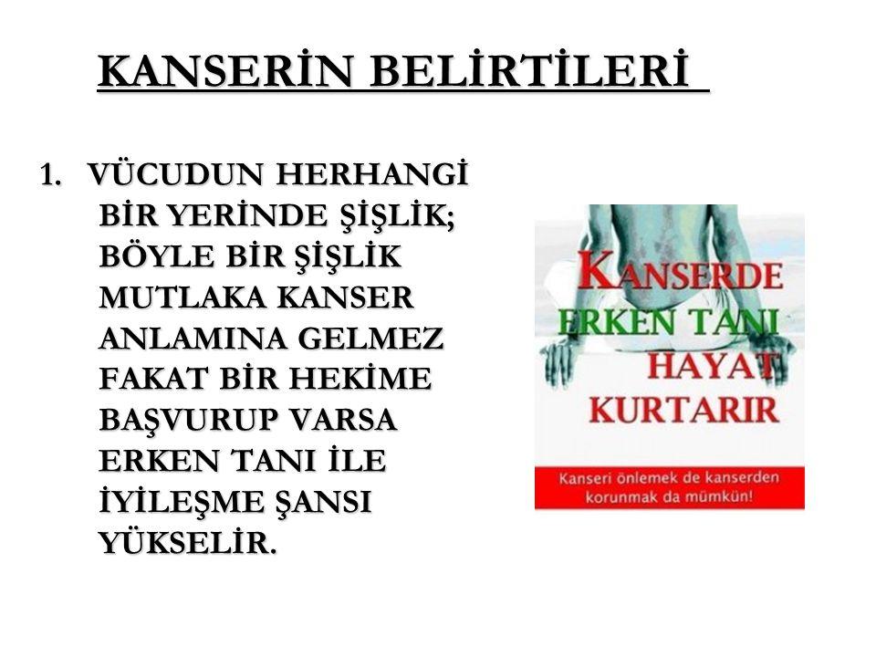 KANSERİN BELİRTİLERİ 1.