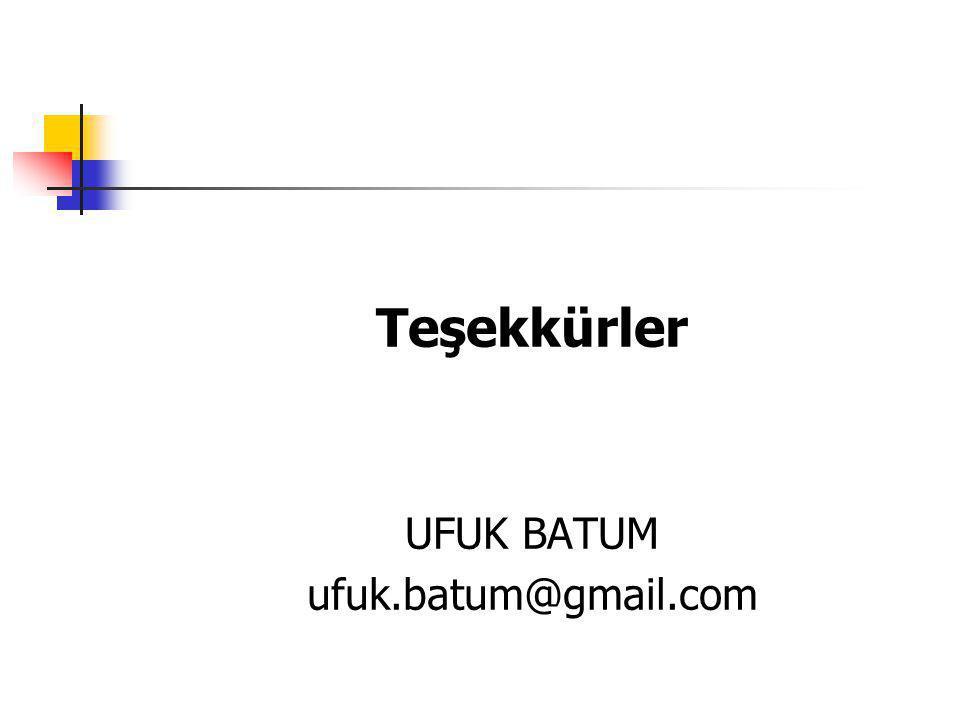 Teşekkürler UFUK BATUM ufuk.batum@gmail.com