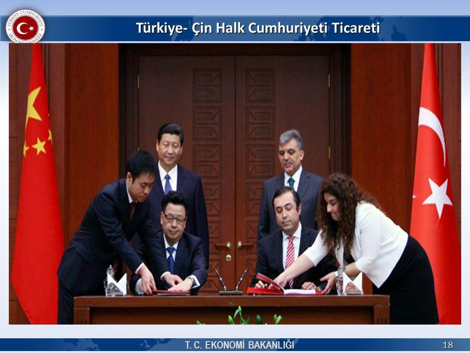 Türkiye- Çin Halk Cumhuriyeti Ticareti T. C. EKONOMİ BAKANLIĞI 18